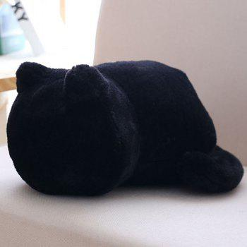 Stuffed Cat Back Birthday Gift Toys Cushion Throw Pillow - BLACK BLACK