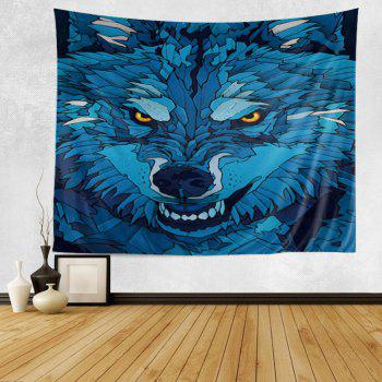 Cartoon Wolf Print Tapestry Wall Hanging Art Decor