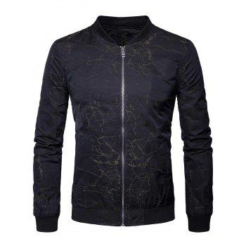 Zipper Up Textured Bomber Jacket