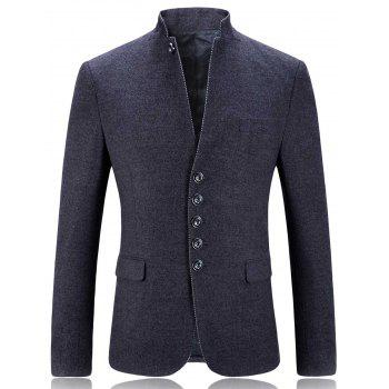 Stand Collar Slim Fit Single Breasted Blazer