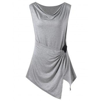 Plus Size Crossover Ring Tank Top