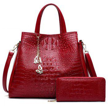 Crocodile Embossed Wallet and Handbag
