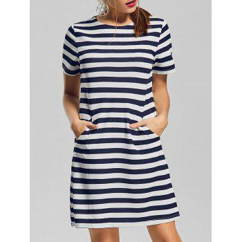 Striped Pocket T Shirt Dress