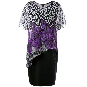 Plus Size Leopard and Paisley Twinset Dress