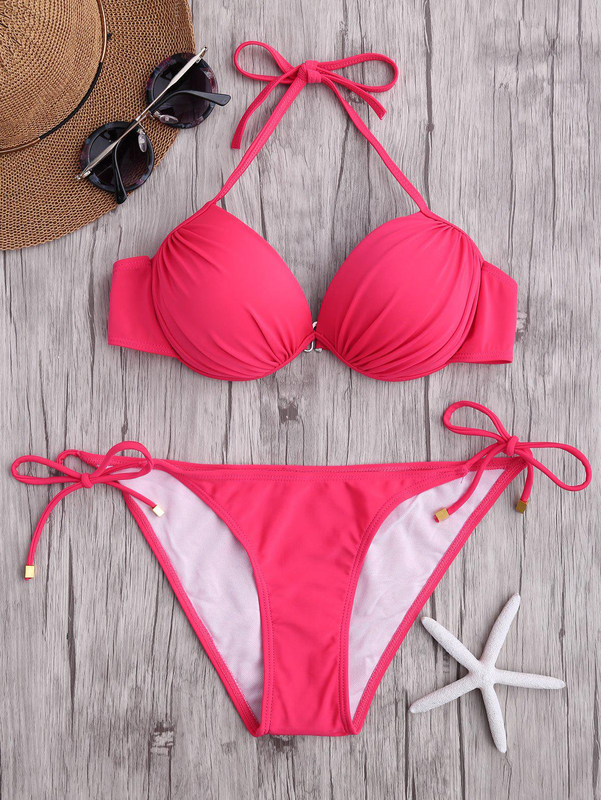 Ensemble bikini push-up - Rouge L
