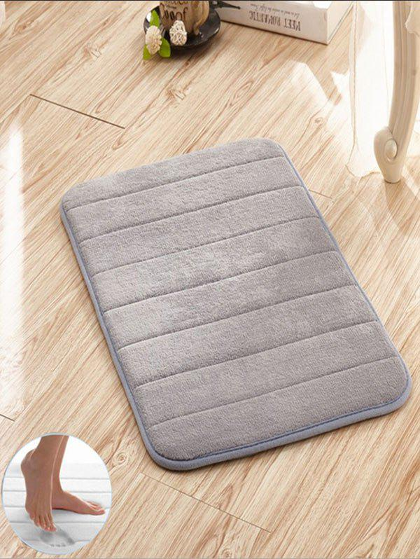 Slow Rebound Memory Coral Fleece Stripes Door Mat slabstone pattern coral fleece large door mat