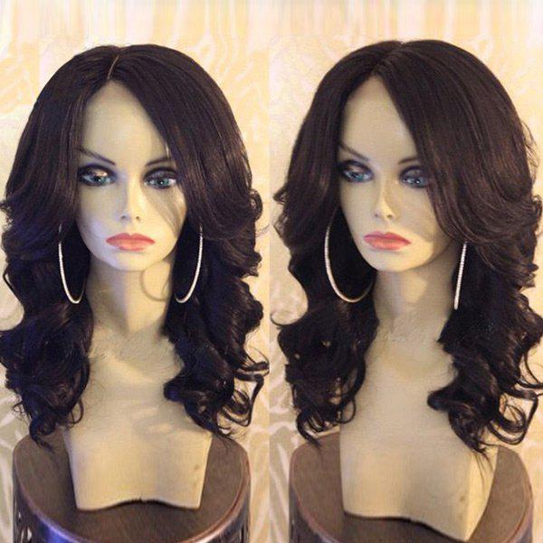 Medium Side Part Bouffant Body Wave Synthetic Wig medium side part bouffant body wave synthetic wig