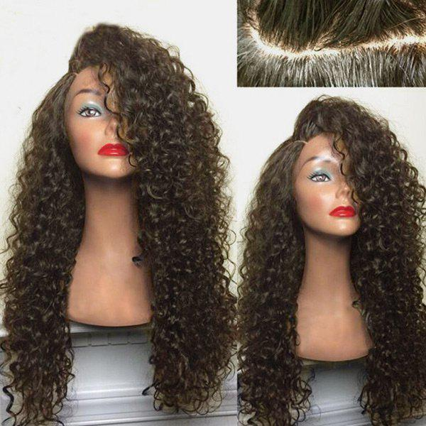 Long Shaggy Deep Side Parting Kinky Curly Synthetic Wig купить