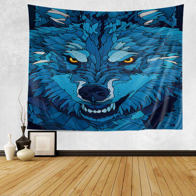 Cartoon Wolf Print Tapestry Wall Hanging Art Decor home decor lone wolf patterned wall art tapestry