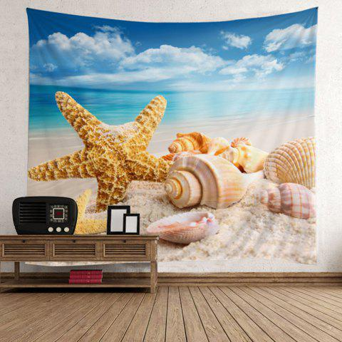 Wall Art Starfish Conch Beach Style Tapestry - COLORFUL W51 INCH * L59 INCH