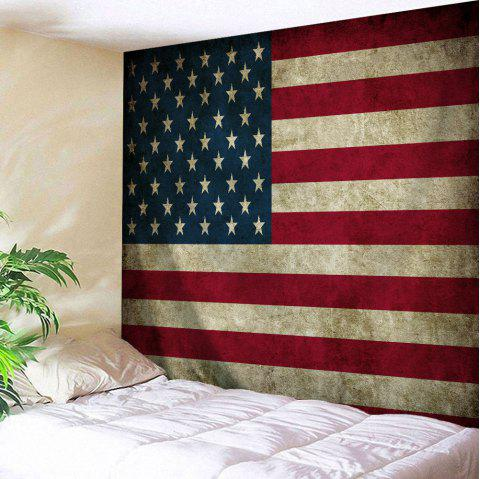 Wall Hanging Distressed American Flag Tapestry - COLORMIX W59 INCH * L79 INCH