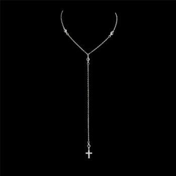 Crucifix Long Pendant Charm Necklace