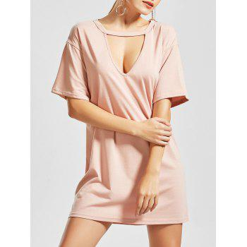 Choker Low Out T Shirt Dress