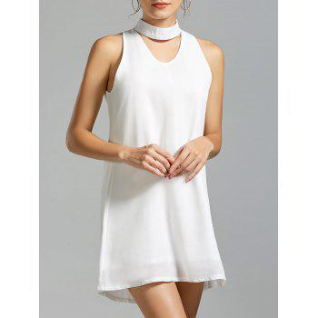 Sleeveless Mini Choker Dress - WHITE WHITE