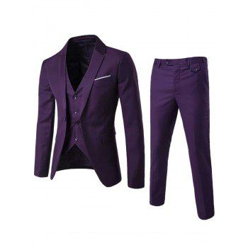 Single Button Lapel Blazer and Pants Twinset