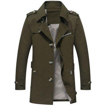 Slim Fit Button Up Lapel Coat