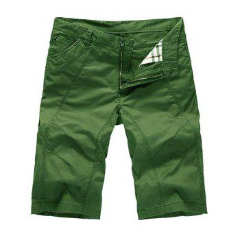 Casual Zipper Fly Slim Chino Shorts