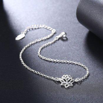 Lotus Flower Pattern Anklet - SILVER