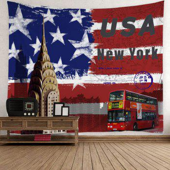 Patrotic American Flag Bus Tapestry