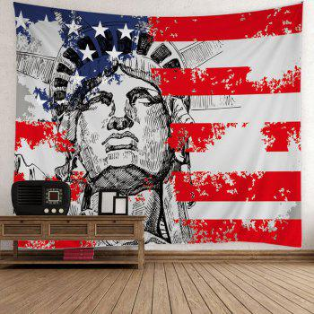 Patrotic Statue of Liberty USA Flag Print Tapestry