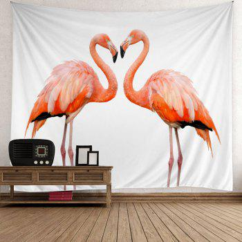 Flamingo Couple Wall Hanging Tapestry