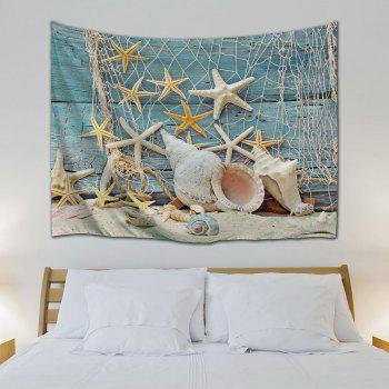 Starfish Conch Decorative Wall Hanging Tapestry - COLORMIX W59 INCH * L59 INCH