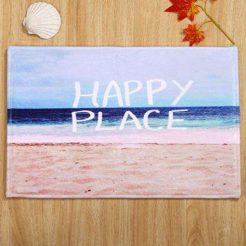 Coral Velvet Beach Letter Pattern Area Rug - COLORMIX W24 INCH * L35.5 INCH
