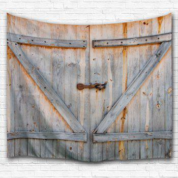 Woody Door Print Wall Decoration Tapestry