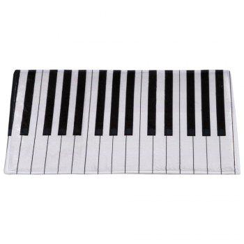 Non-slip Coral Velvet Piano Keyboard Bathroom Area Rug - BLACK STRIPE W16 INCH * L24 INCH