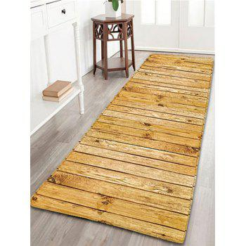 Wood Grain Flannel Skidproof Bathroom Rug