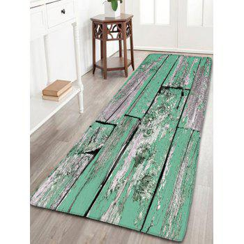 Flannel Skidproof Wood Grain Print Bath Mat