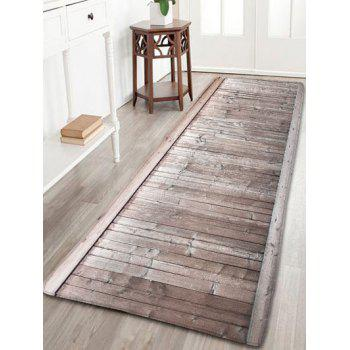 Wood Grain Bathroom Antiskid Flannel Rug