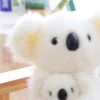 Simulation Toy Koala Mother and Baby Stuffed Animal - WHITE