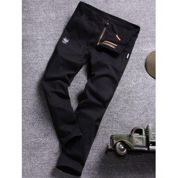 Embroidery Narrow Cuff Slim Casual Pants