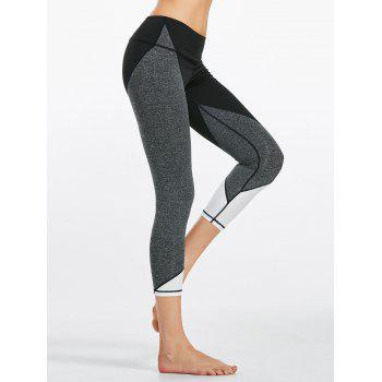 Colorblock Capri Fitness Leggings
