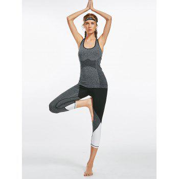 Leggings Colorblock Capri Fitness - Noir L