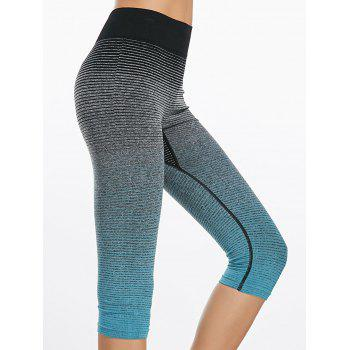 Ombre Printed Capri Sports Leggings