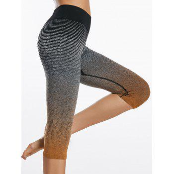 Ombre Printi Capri Sports Leggings