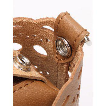 Hollow Out Handbag with Interior Bag - APRICOT
