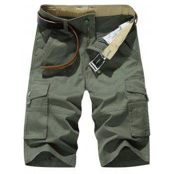 Zipper Fly Casual Cargo Shorts