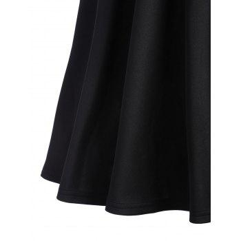 Fit and Flare A Line Work Robe vintage - Noir XL