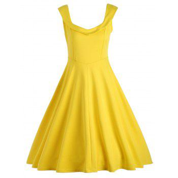 Fit and Flare A Line Work Vintage Dress