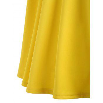 Fit and Flare A Line Work Robe vintage - Jaune XL
