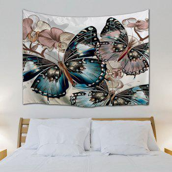Butterfly Print Home Decor Wall Hanging Tapestry - COLORMIX W71 INCH * L79 INCH