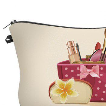 3D Cosmetics Print Makeup Clutch Bag -  PALOMINO