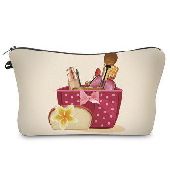 3D Cosmetics Print Makeup Clutch Bag - PALOMINO PALOMINO