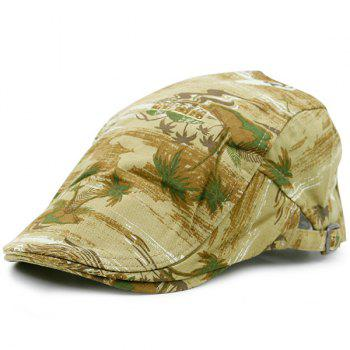 Coconut Palm Beach Pattern Newsboy Cap