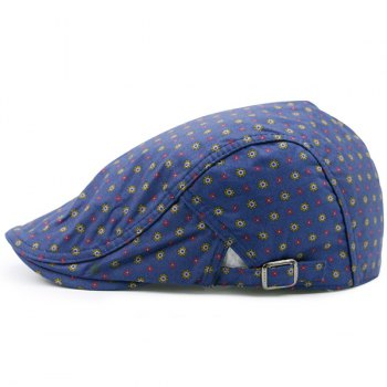 Orderly Tiny Floral Printing Flat Hat