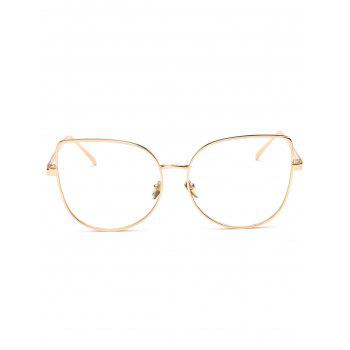 Butterfly Shape Street Snap Plain Sunglasses - GOLDEN