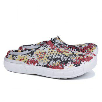 Hollow Out Printed Slippers - FLORAL 42
